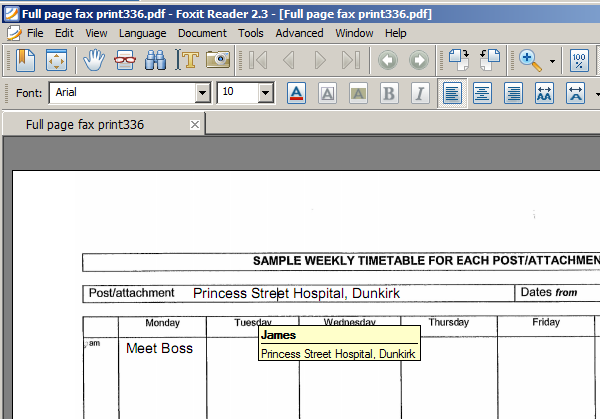 Filling in PDF Forms with Foxit PDF Reader